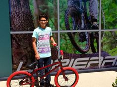 Alex with his new Subrosa #bicyclewarehouse #bike #fun