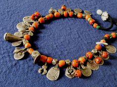 coral silver necklace-Morocco