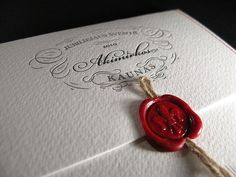 Creative Wax, Seals, Stitching, Packaging, and Letterpress image ideas & inspiration on Designspiration Chocolate Logo, Wedding Stationery, Wedding Invitations, Invites, Cd Packaging, Graphic Projects, Wax Stamp, Letterpress, Invitation Cards