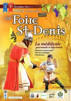 836ème Foire de la St Denis les 3 & 4 octobre http://www.dreux.com/agenda/foire-saint-denis #Dreux #StDenisDreux #Foire #medieval #animation #SortiraDreux