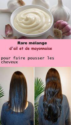 Rare mélange d'ail et de mayonnaise pour faire pousser les cheveux