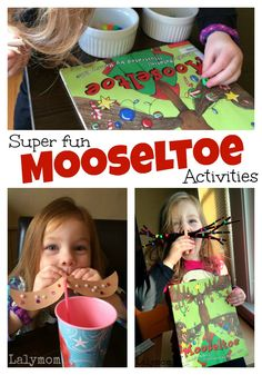 Fun Mustache Activities for Kids to pair with the kids Christmas book Mooseltoe and the giant Moosestache on Lalymom.com Click through to see!