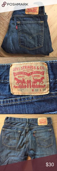 "Levi's 514 jeans Men's 514 jeans great condition.  33"" inseam. Levi's Jeans Relaxed"