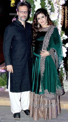 Raveena Tandon and hubby Anil Thadani : Photos: Manish Malhotra's niece Riddhi's sangeet, a star-studded affair
