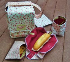Lunch kit sewing pattern