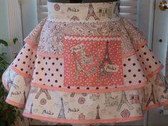 Summer in Paris Pink Retro Half Apron. Could be a cute Parisian themed apron.