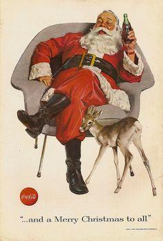 Santa Claus Coca-Cola Ad, ca. 1950's