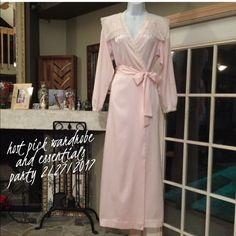 🍒🍒 H/P🍒🍒 2/27/17 CRISTIAN DIOR PINK LACE ROBE 🍒🍒 HOST PICK 🍒🍒2/27/2017 WARDROBE GOALS PARTY ABSOLUTELY STUNNING VINTAGE CHRISTIAN DIOR I.MAGNIN PINK LINGERIE ROBE WHITE DOYLE LIKE LACE TRIM  LONG COLLAR  IN BACK PINK AND WHITE EYELIT DESIGNS WEAVED PINK RIBBON AROUND COLLAR AND FRONT TIES INSIDE BIG LONG SATIN PINK RIBBON WRAPS AROUND 💯% POLYESTER MADE IN THE USA I.N.T LADIES GARMENT UNION WORKERS EXCELLENT BRAND NEW CONDITION CHRISTIAN DIOR Intimates & Sleepwear Robes