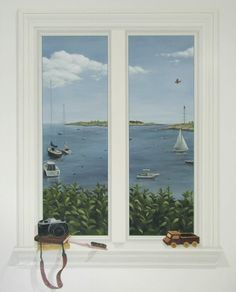 Trompe l'Oeil Window | Rachel Mello [faux-window]