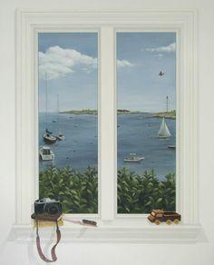 Trompe l'Oeil Window | Rachel Mello [faux-window]