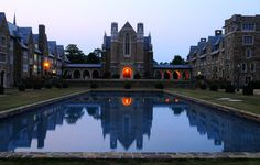 The music buildings overlooked the reflection pools. Rome Georgia, Georgia On My Mind, Southern Belle, Southern Comfort, Berry College, Georgia College, My Father's World, College Years, Alma Mater