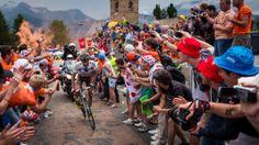 2013 18/7 rit 18 Alpe d'Huez > Christophe Riblon laat Tejay Van Garderen achter
