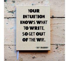 Custom writing journal, Notebook,  - Ray Bradbury Quote, Personalized, Customized, choose your quote, custom design, Kraft paper, $39.5