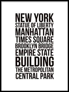 New York city, poster. stilfuld sort og hvid plakat, poster. www.desenio.dk