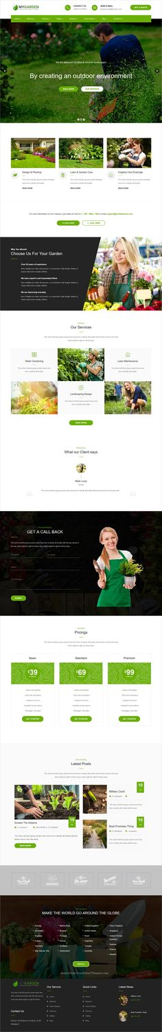 My Garden is clean and modern design 3in1 responsive #WordPress theme for gardening, #landscaping and lawn services website download now..