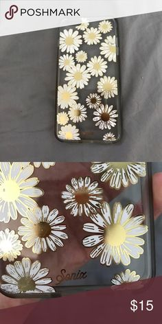 iPhone 6 Plus Sonix case Parting with this Sonix iPhone 6 Plus case. Just bought a couple months back and then I got a new phone.  Good condition!! Sonix cases are great because they offer protection without the bulk and they are really cute. Clear case with Gold and white Daisy's. comment with questions or make an offer sonix Other