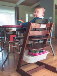 It was a struggle against new found clutter when our home welcomed our first child, Michael. That is until we hacked the Stokke Tripp Trapp High Chair