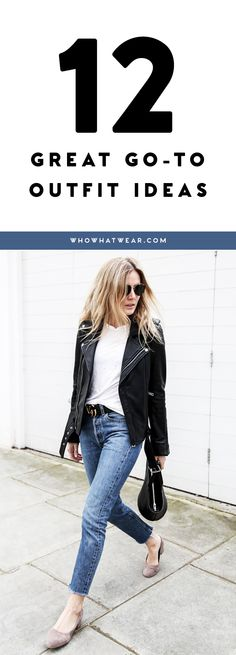 New outfit ideas using pieces already hanging in your closet.