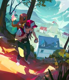 Artwork from the Pokemon universe. Fan Art Pokemon, Pokemon Red, Pokemon Games, Cute Pokemon, Pokemon Stuff, Pokemon Rouge, Photo Pokémon, Pokemon Trainer Red, Pikachu