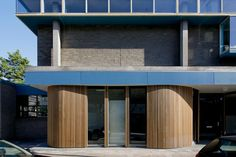 school, contrast, timber facade