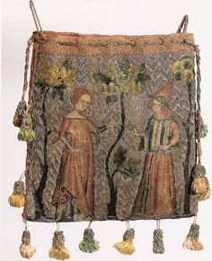 Embroidered Lovers' Purse -- Follow the link for lots of images and embroidery techniques.
