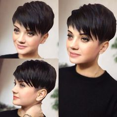 Modern Pixie haircuts are much more than a simple cut for short hair. They are incredibly varied and offer individual styling options. Short Pixie Haircuts, Pixie Hairstyles, Short Hairstyles For Women, Short Hair Cuts, Very Short Pixie Cuts, Pixie Haircut Styles, Pixie Cut Styles, Best Pixie Cuts, Long Pixie