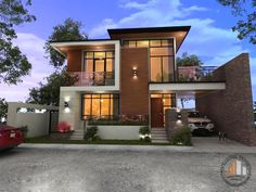 More and more homeowners now are looking for houses that project modern designs. Modern house designs are simple and do not have lavish decorations and design. They only project straight lines, rectangular shapes, avoiding overly [. Two Story House Design, 2 Storey House Design, Two Story House Plans, House Front Design, Small House Design, Modern Bungalow House Design, 4 Bedroom House Designs, Modern Exterior House Designs, Modern House Facades