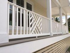 7 Deck & Porch Railing Ideas (With Pictures) - Decks & Docks Wood Porch Railings, Veranda Railing, Porch Railing Designs, Metal Deck Railing, Porch Wood, Balcony Railing Design, Railing Ideas, Porch With Railing, Railings For Decks