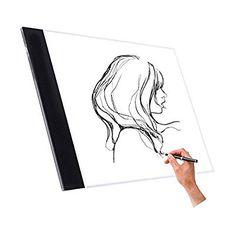 NOPTEG Tracing Light Box, A4 LED Drawing Light Pad Ultra Thin Art Stencil Board (General Style)