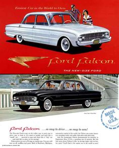 """The '59 Ford Falcon -- a popular econo-car - it had few options - they came with """"R&H"""" as they used to say in the ads: radio and heater, and they still had vacuum-operated wipers that slowed down or even stopped whenever you really needed them. Remember when one wiper worked and the other didn't 'cause the vacuum was shot on one side!"""