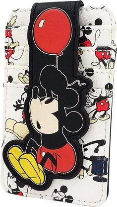 Classic Mickey Mouse, Disney Mickey Mouse, Minnie Mouse, Mickey Mouse Balloons, Disney Souvenirs, Cute Wallets, Leather Card Wallet, Disney Christmas, Christmas Gifts