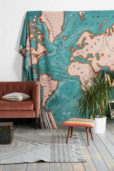 4040 Locust Ocean Current Tapestry
