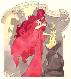 Melisandre - Maryanneleslie´s Art Nouveau inspired illustrations