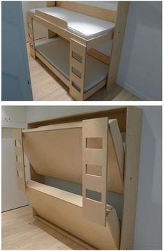 Buying Bunk Beds For Kids – Bunk Beds for Kids Folding Furniture, Folding Beds, Home Decor Furniture, Furniture Projects, Furniture Design, Loft Spaces, Small Spaces, Alcove Bed, Fold Down Beds