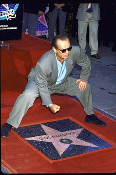 Actor Jack Nicholson at his star ceremony on the Hollywood Walk of Fame Really Good Movies, Great Movies, Hollywood Boulevard, Hollywood Walk Of Fame, Vintage Hollywood, Hollywood Style, Hollywood Actresses, Here's Johnny, Celebrity Singers