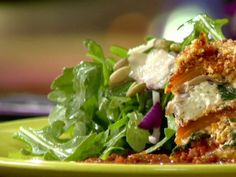 Arugula Salad recipe from Anne Burrell via Food Network