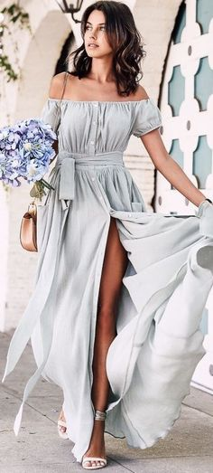 Maxi Mint Dress                                                                             Source