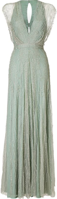 If I wanted to outspend Stephanie... The color and cut would look hella amazing though. Maybe too tight in places but hell if I care! Jenny Packham Beaded V-Neck Gown $5,185.00 thestylecure.com