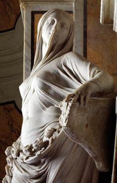 Virgem velada - Giovanni Strazza - sécXIX
