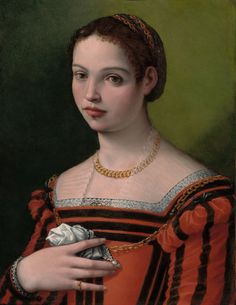 Portrait of young woman, by Michele Tosini (1503–1577), Florence.