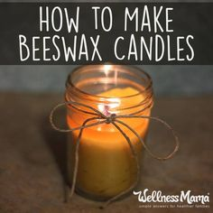 Homemade beeswax candles are a great and natural alternative to the toxic scented candle .. Here's a step by step tutorial on how to make beeswax candles in your own home!