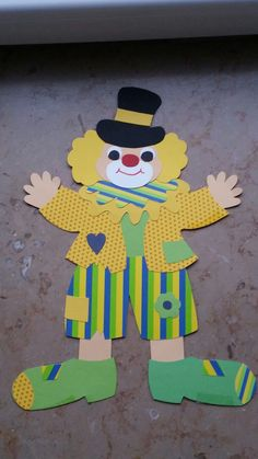 Clown mit Hut Fensterbild