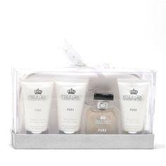 Puro Travel Essentials 1.69 Oz Spray/2.37 Oz Body Wash/2.37 Oz Body Lotion/2.37 Oz Hand Cream/Purse