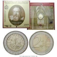RITTER San Marino, 2 Euro 2005, Jahr der Physik / Galileo Galilei, st #coins