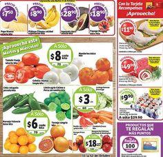 Frutas y Verduras Soriana 11 y 12 de Octubre