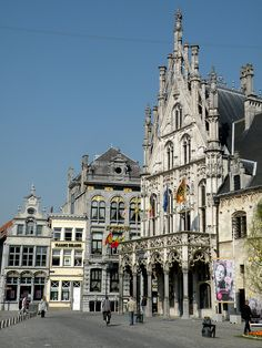City hall van Mechelen, Belgium.Mechelen ia very beautiful town full of old architecture