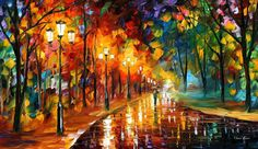 Colorful Wall Art Alley Of The Memories Oil by AfremovArtStudio