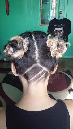 drag to resize or shift+drag to move Shaved Nape, Shaved Head, Undercut Tattoos, Trending Memes, Hair Inspiration, Hair Styles, Sisters, Beauty, Projects