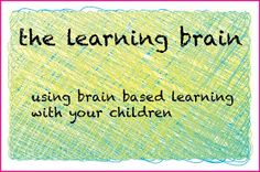Understand brain based learning to use with your child.
