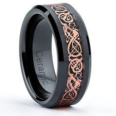 unique mens wedding bands celtic